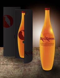 Red Raven Whiskey Mock-Up