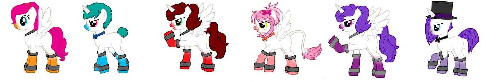 Fnaf SL ponies by IloveFNAFandsonic