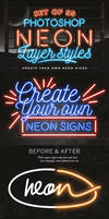 Neon Layer Styles Ps