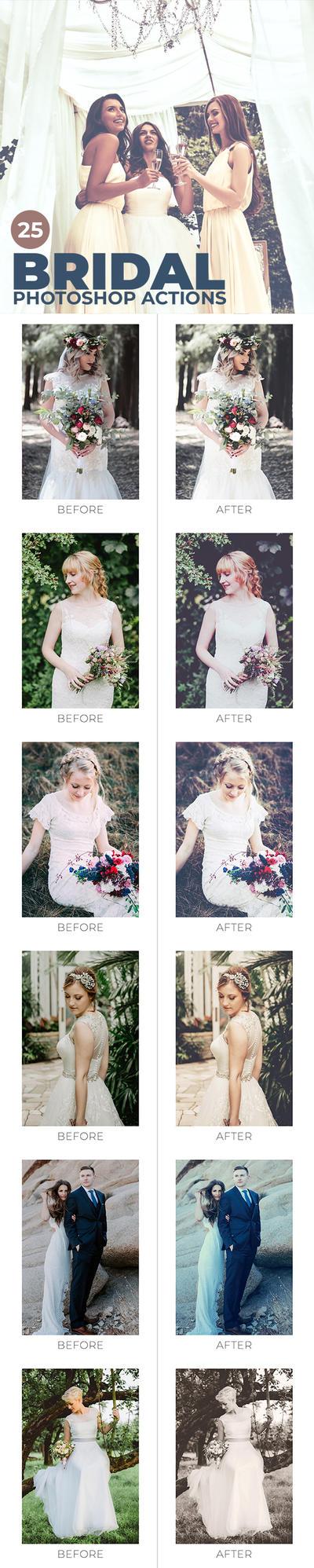 25 Bridal Photoshop Actions by sharonovKira