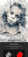 Digital Mixed Art Photoshop Action V3