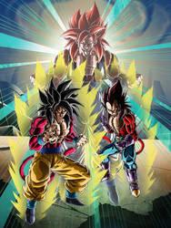 LR Fan-made Dokkan Card (SSJ4 Goku and Vegeta)