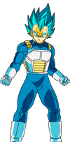 Super Saiyan Blue Vegeta Dokkan Battle Render 2