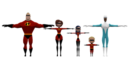 The Incredibles Models Pack by Detexki99