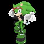 Scourge the Hedgehog Render by Detexki99