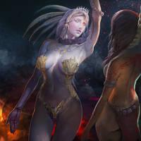 Death Goddess- Ixtab by jaggudada