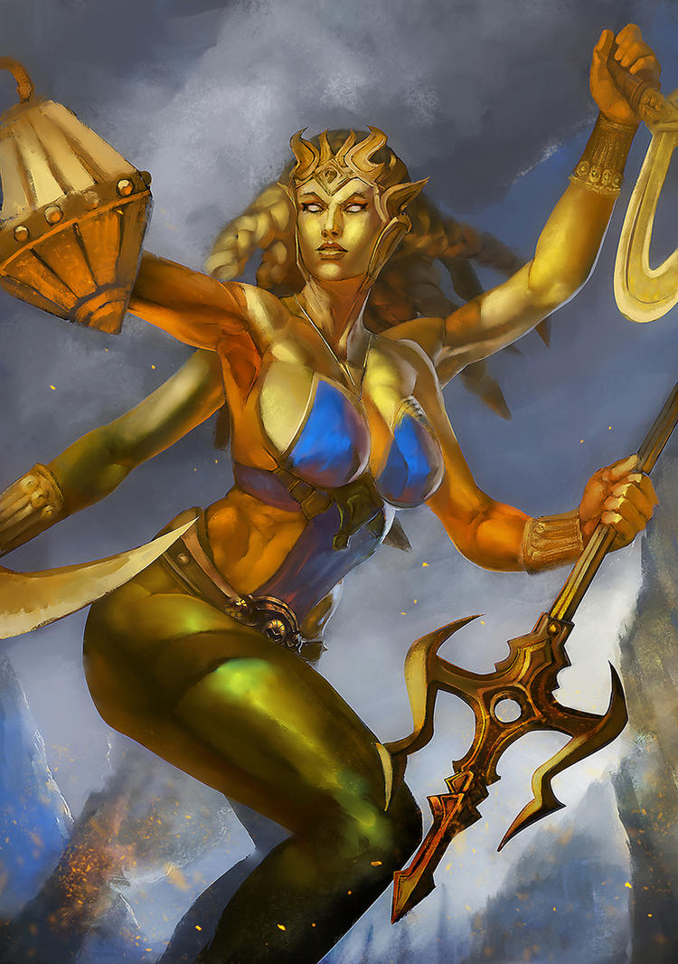 Golden Kali - Smite by jaggudada