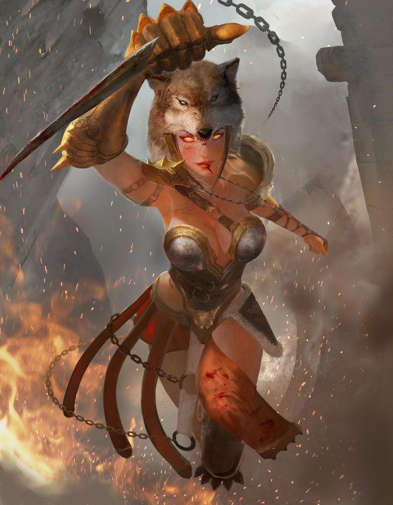 Lyssa - Godess of Madness by jaggudada