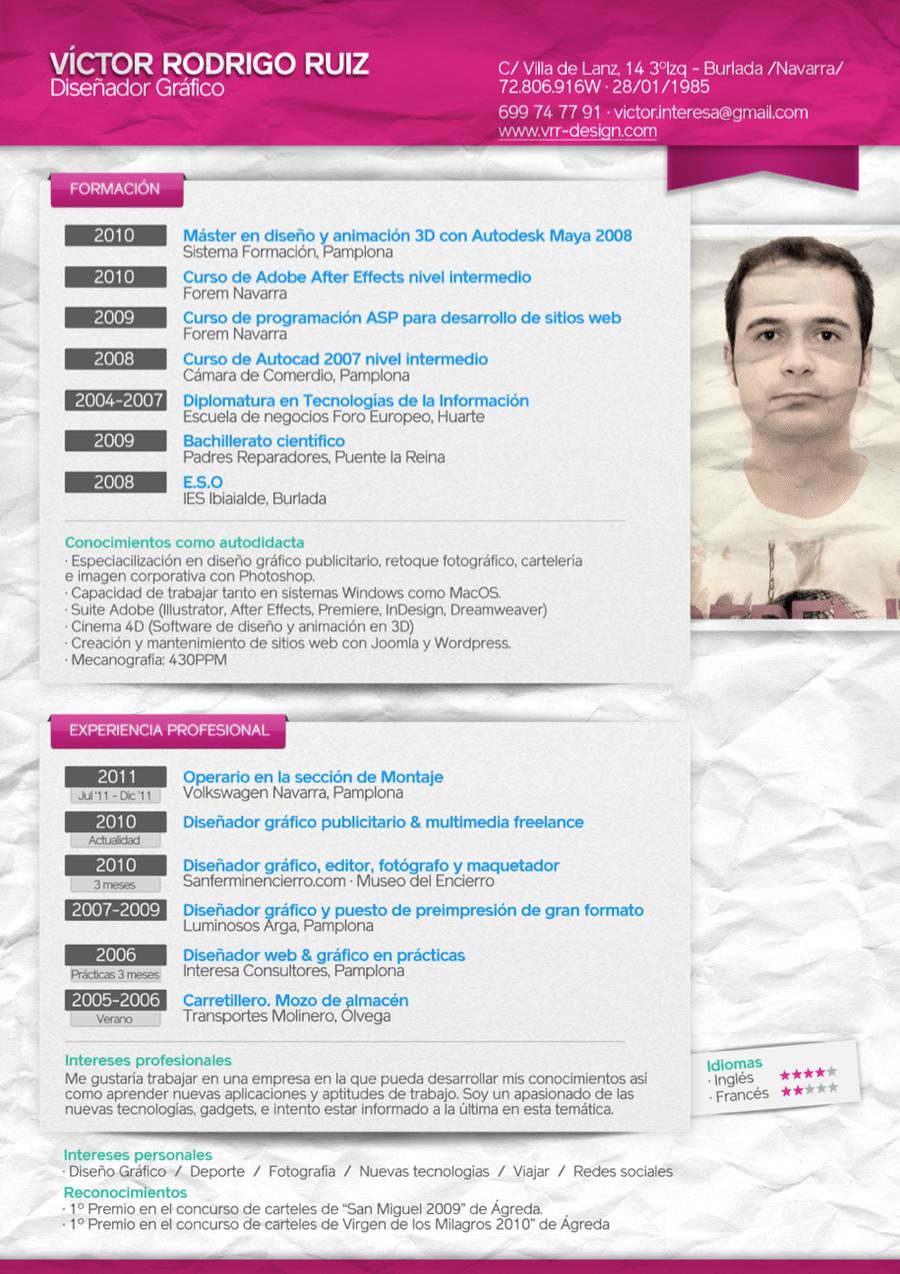 My Curriculum Vitae CV by pulgui on DeviantArt