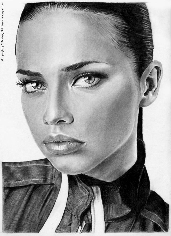 ADRIANA LIMA - a portrait by tomjogi