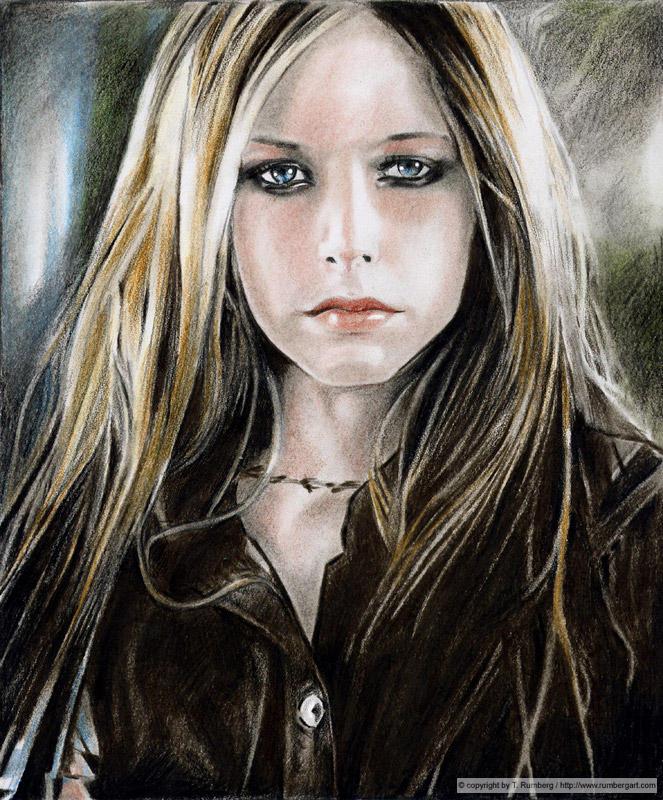 AVRIL LAVIGNE  a portrait by tomjogi