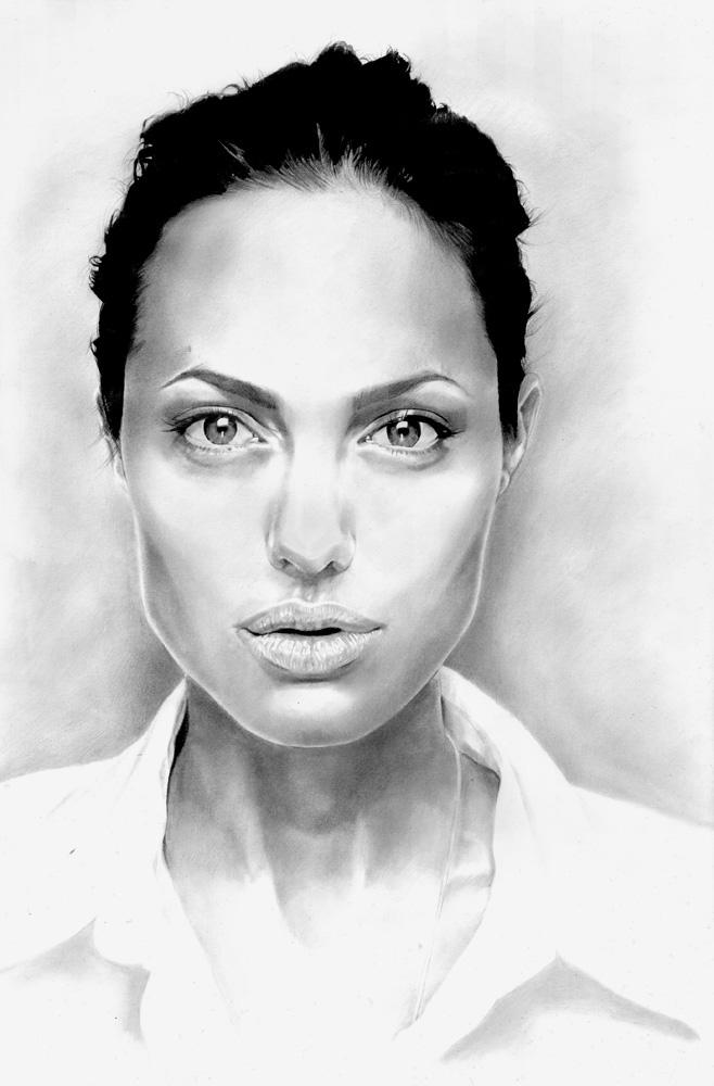 ANGELINA JOLIE - PORTRAIT by tomjogi
