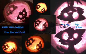 Carving Contest - Mimi nd Juju by Treetail