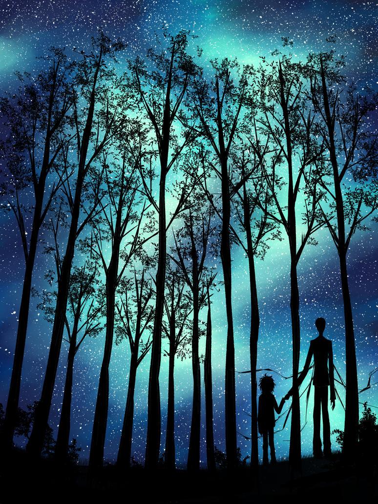 starnight Slendy and Jeff by MirkyMirky
