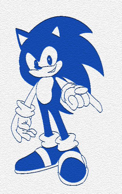 Sonic the Hedgehog -Version 2- by x-Orbis-x