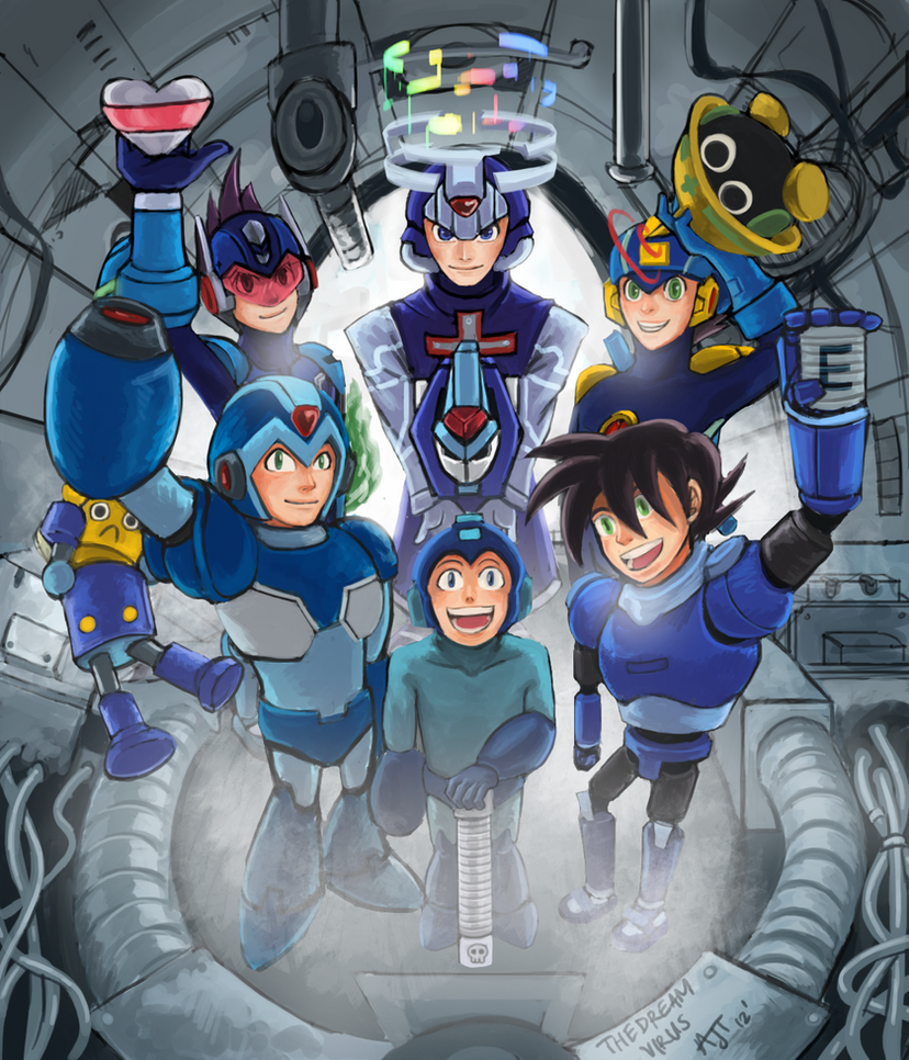 25 Years of Megaman by TheDreamVirus