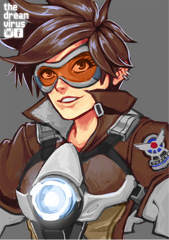 Speedpaint: Tracer by TheDreamVirus