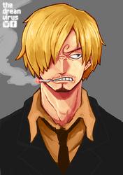 Speedpaint: Sanji by TheDreamVirus