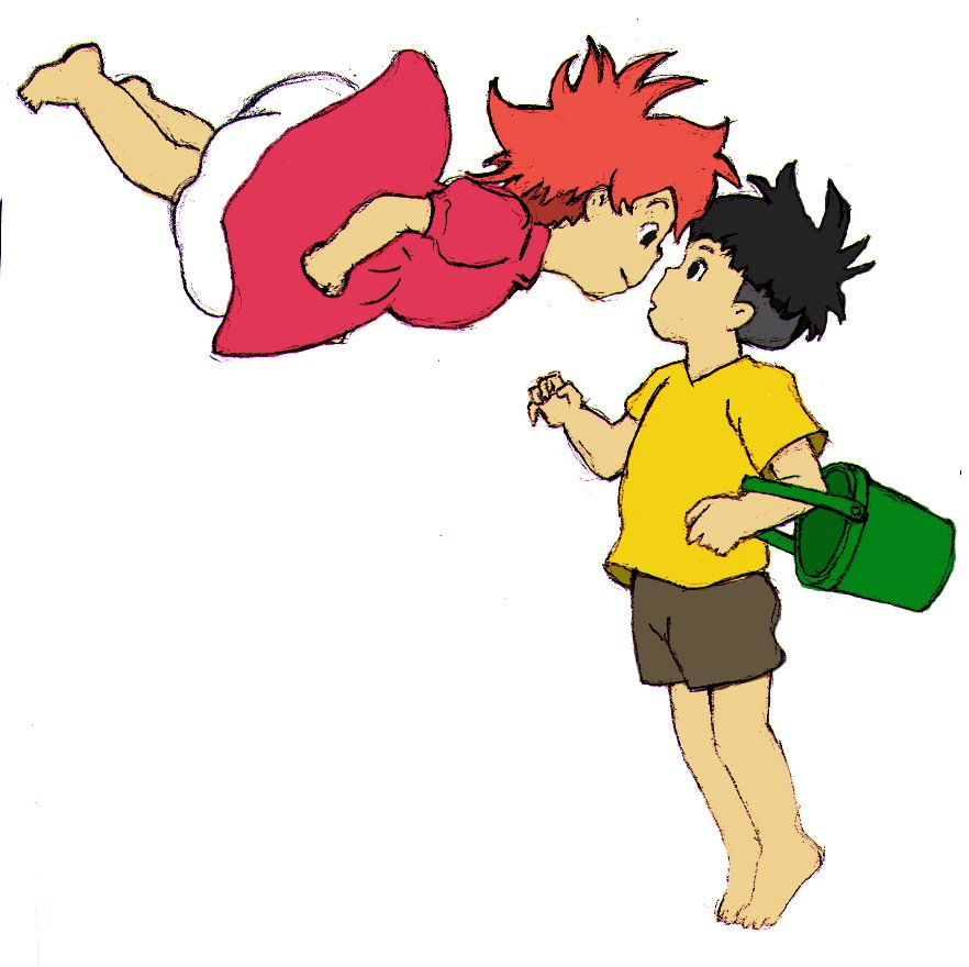 Ponyo and Sosuke by walking-pat on DeviantArt