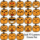 Pumpkin Emoticon Set by selftaughtartist1
