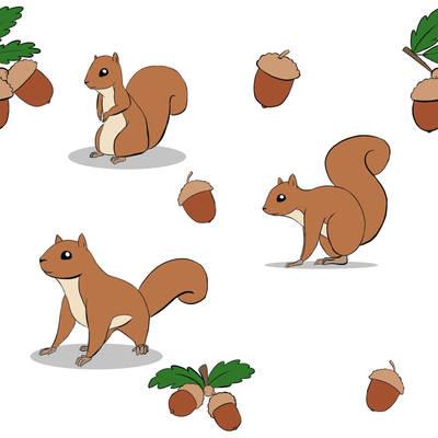 squirrel tile design