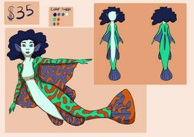 Mandarin Fish Mermaid Adoptable (Open)
