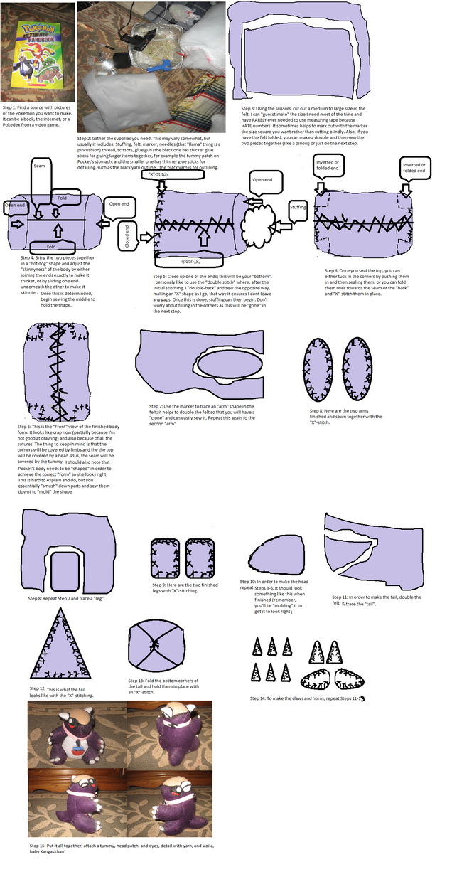 Baby Kangaskhan Pokedoll Sewing Instructions By Psybur On Deviantart