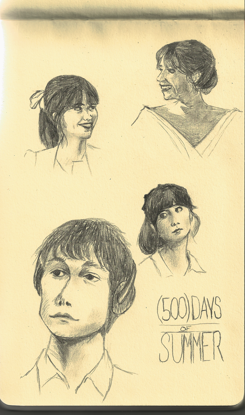 500 days of summer sketch by aogwhatisthishith on deviantart