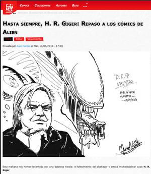Homenaje a H. R. Giger (D.E.P.) (1940 - 2014)
