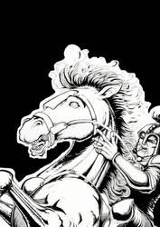 Un caballero y su caballo
