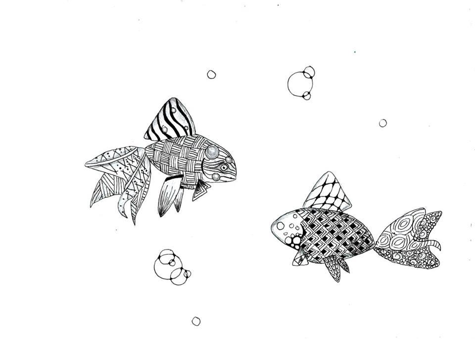 Zentangle fishes by ZenStarFox