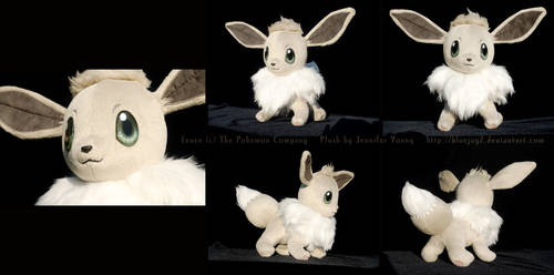 Shiny Eevee Plush (Better Photos) by blueJAY2