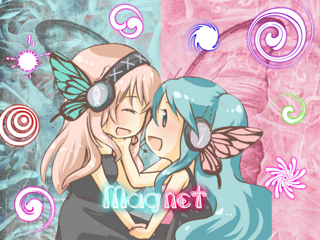 the gallery for gt hatsune miku and megurine luka drawing