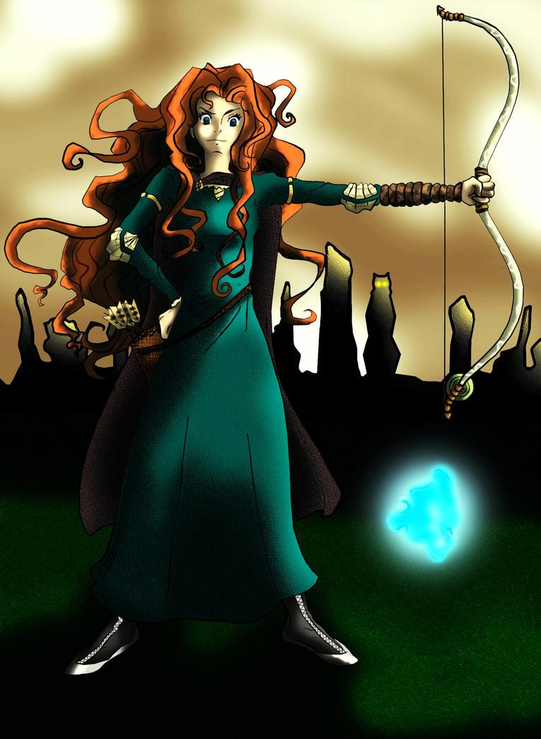 Brave Merida. by amandemisa