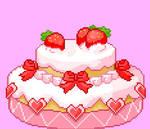 Kawaii Cake Pixel Art!
