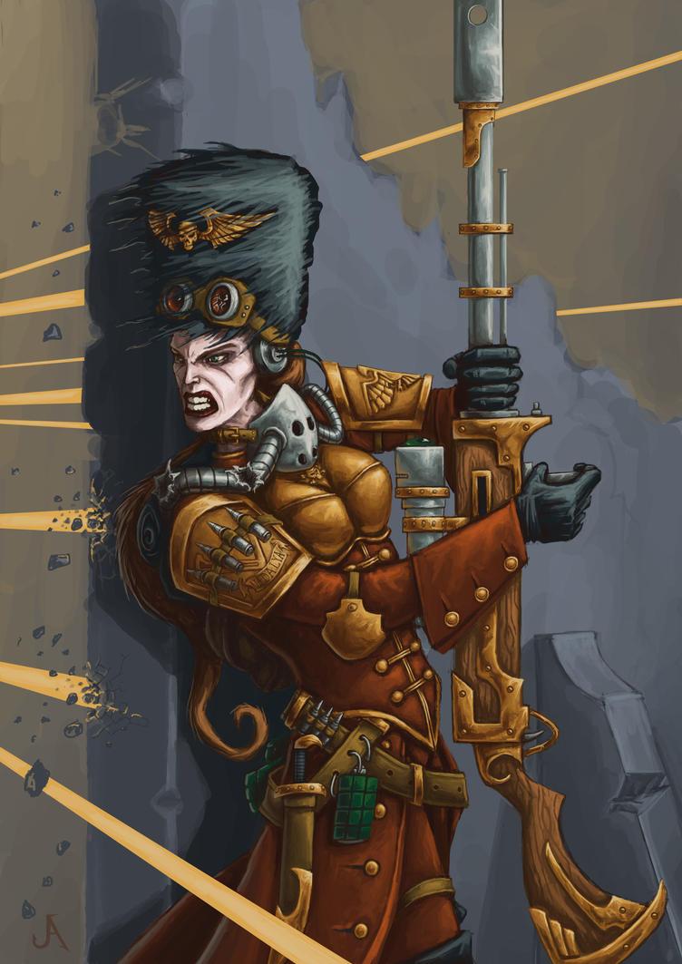 [W40K] Collection d'images : La Garde Impériale - Page 2 Vostroyan_lady_by_jasperavent-d7j7afq