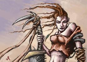 Desert sword girl by jasperavent