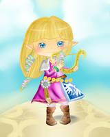 Skyward Sword Zelda Chibi by Keaton-Corrine