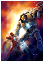 iron man vs iron monger by jaroldsng