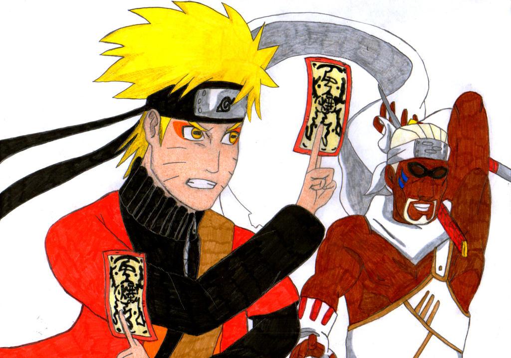 Naruto and Killer Bi by nyuhas