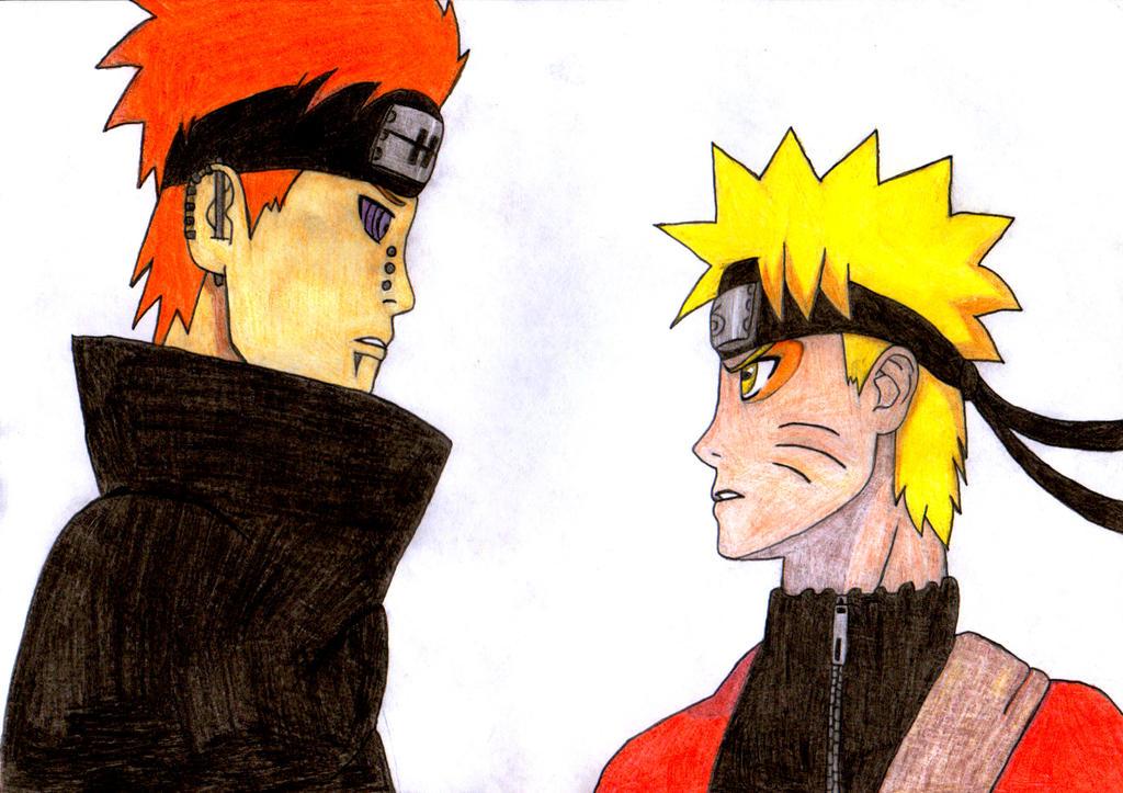 Naruto and Pain by nyuhas