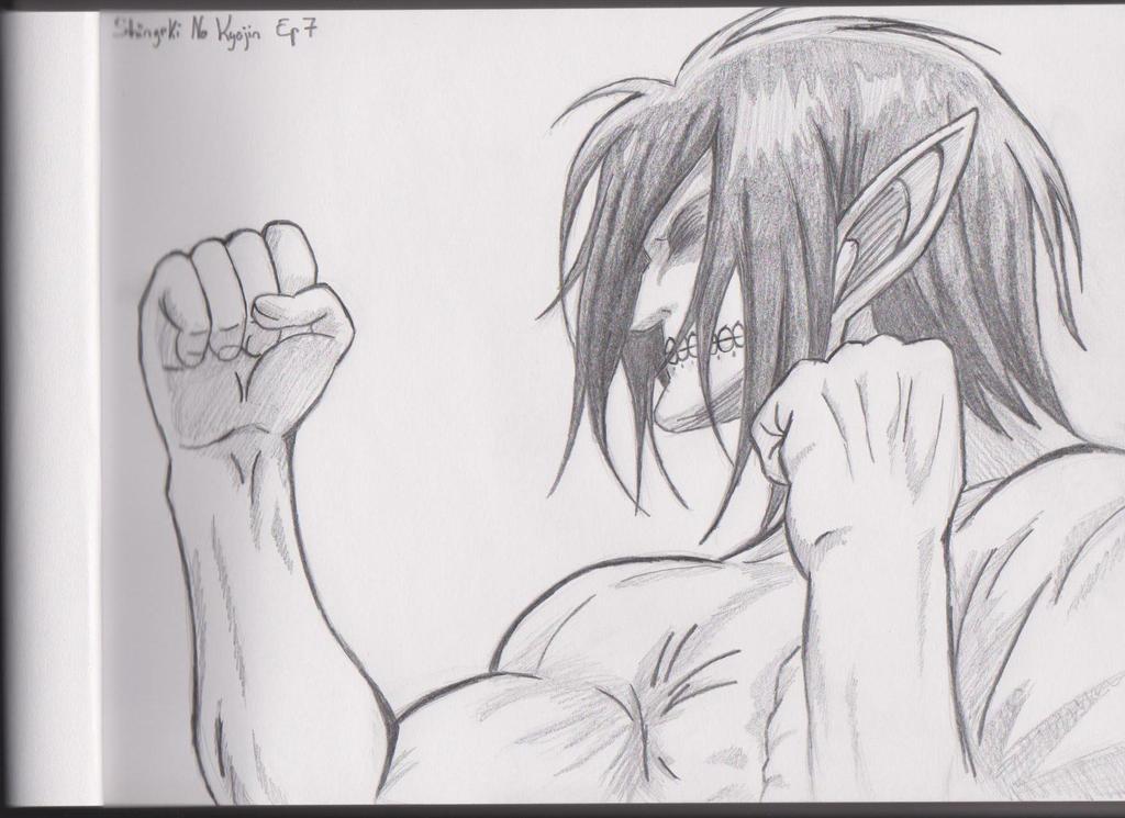 Eren Titan Form Drawing