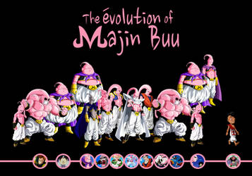 The Evolution Of Majin Buu by KhomIx