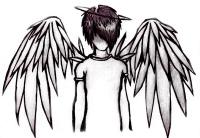 handdrawn angel by MyDarkestLove