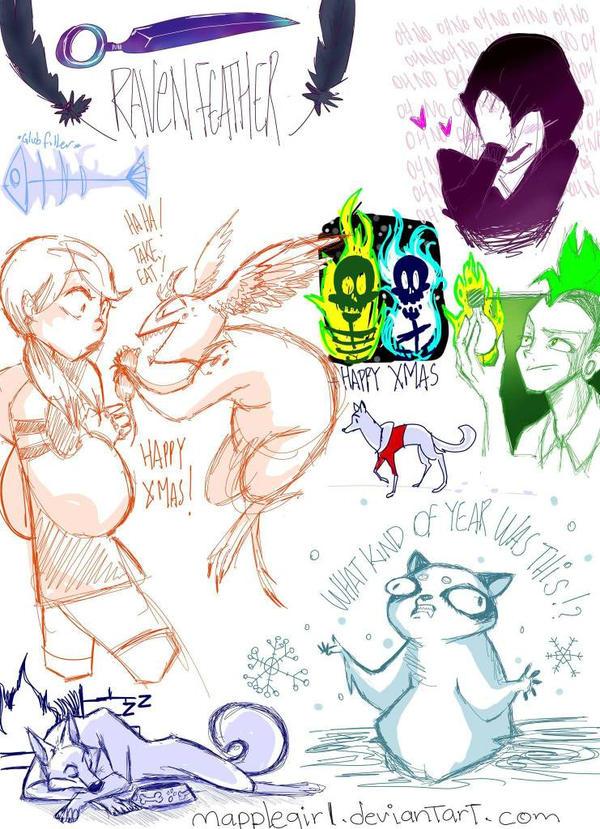 christmas doodle by Mapplegirl