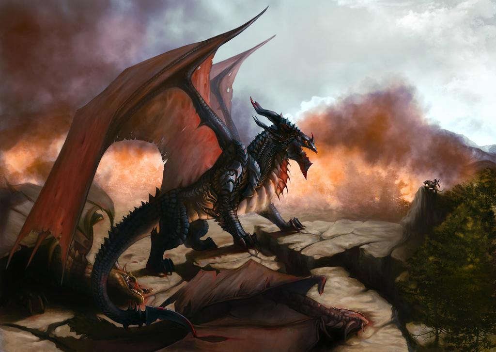 Deathwing Attack by MeWannaLearn