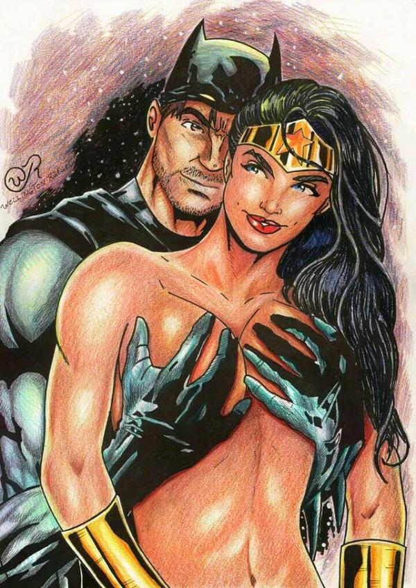 Wonderwoman and batman in love