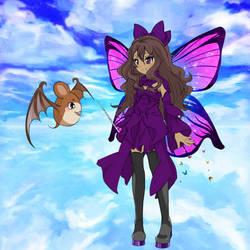 Purple butterfly fairy by KikilynnCooper
