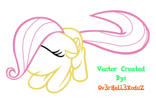 V04 - Filly Fluttershy Vector (Lineal Only) HD