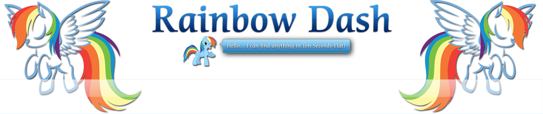 01 - Custom Google Logo (Rainbow Dash on Google)